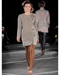 Peter Pilotto - Gray Honeycomb Knit Coat - Lyst