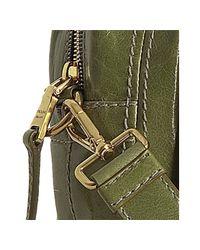 Prada   Edera Green Vitello Shine Logo Zip Top Satchel   Lyst
