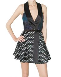 Proenza Schouler - Black Lurex and Sequin Tweed Dress - Lyst