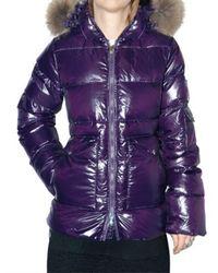Pyrenex | Purple Murmansky Fur Hooded Down Jacket | Lyst