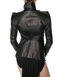 Rick Owens - Black Small Wings Leather Jacket - Lyst