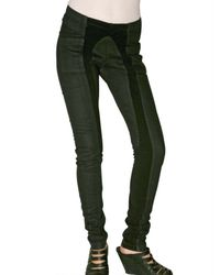 Rick Owens - Black Stretch Denim Biker Jeans - Lyst