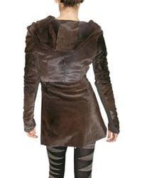 Rick Owens - Brown Kangaroo Fur Coat - Lyst