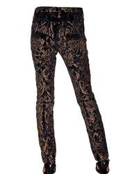 Roberto Cavalli | Black Velvet Flared Trousers | Lyst