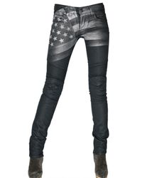 Rockstar | Black Stretch Denim American Flag Jeans | Lyst