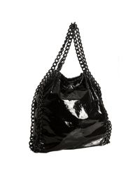 Stella McCartney | Black Falabella Patent Bag | Lyst