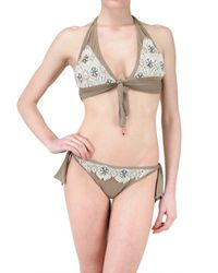 Vicedomini | Brown Embroidered Bathing Suit | Lyst