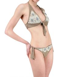 Vicedomini - Brown Embroidered Bathing Suit - Lyst