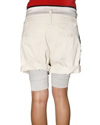 DSquared² - Natural Cotton Twill and Jersey Rugby Shorts - Lyst