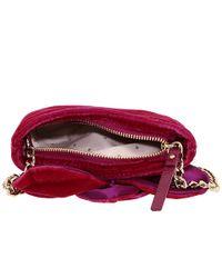 kate spade new york - Red Skipper Deluxe Plush Crossbody Bag - Lyst