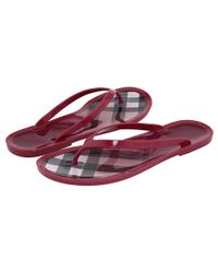 Burberry | Pink Flip Flop | Lyst