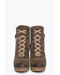 DIESEL | Brown Rosko Wedge Boots | Lyst