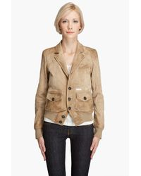 DSquared² | Natural Suede Bomber Jacket | Lyst