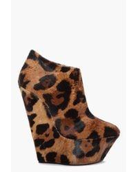 Giuseppe Zanotti | Multicolor Savana Leopard Wedge Booties | Lyst