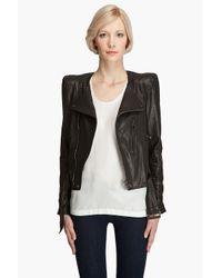 Smythe | Black Moto Jacket | Lyst