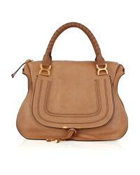Chloé | Natural Marcie Large Leather Bag | Lyst