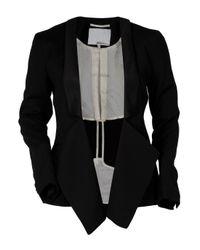 3.1 Phillip Lim | Black Tuxedo Draped Overlap Blazer | Lyst