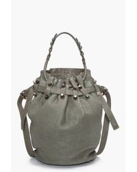 Alexander Wang | Gray Diego Bucket Bag | Lyst