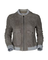 Boy by Band of Outsiders | Metallic Cropped Suede Bomber Jacket | Lyst