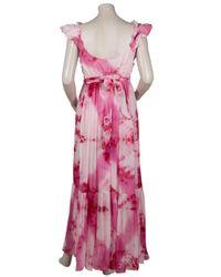 Leaves Of Grass | Pink Mosaic Sleeveless Tie-dye Maxi Dress | Lyst