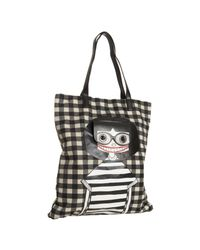 Marc By Marc Jacobs | Black Checkered Nylon Miss Marc Pocket Tote | Lyst