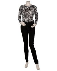 Proenza Schouler - Black Patterned Blouse - Lyst