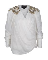 Temperley London - White Latifah Jewel Shoulder Blouse - Lyst