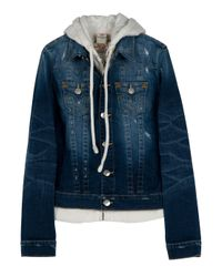 True Religion | Blue Jimmy Hooded Denim Jacket | Lyst