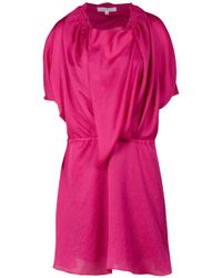 Vanessa Bruno - Pink Seersucker Faux Wrap Dress - Lyst