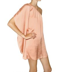 American Retro | Pink Tori One Shoulder Dress | Lyst