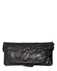 Balmain - Black Ultimate Safety Pins Distressed Clutch - Lyst