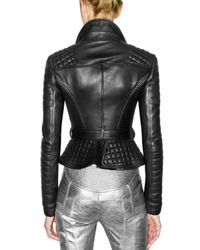 Burberry Prorsum - Black Quilted and Fitted Leather Jacket - Lyst