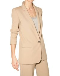 Chloé - Natural Stretch Wool Cloth Jacket - Lyst