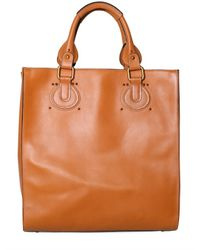 Chloé | Brown Grained Vegetable Treated Aurore Tote | Lyst