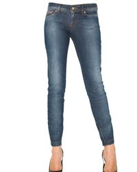 Dolce & Gabbana | Blue Stretch Denim Pretty Skinny Jeans | Lyst