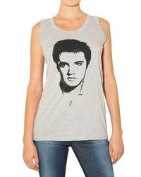 Dolce & Gabbana | Gray Elvis Print Jersey Tank Top | Lyst