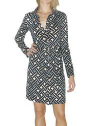 Diane von Furstenberg | Black Prita Silk Hi-lo Shirtdress | Lyst