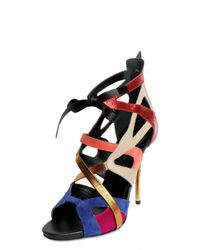 Diego Dolcini - Multicolor 110mm Multi Strap Cage Laced Sandals - Lyst