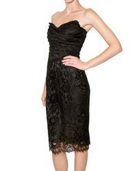 Dolce & Gabbana - Black Lace Bustier Dress - Lyst