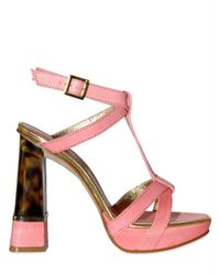 DSquared² | Pink 130mm Calf & Tortoise Plexi Heel Sandals | Lyst