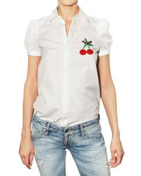 DSquared² | White Cherry Detail Blouse | Lyst