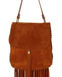 Emilio Pucci | Brown Suede Fringe Cross Body Shoulder Bag | Lyst