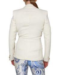 Emilio Pucci - White Wool Silk Gabardine Jacket - Lyst