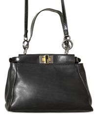 Fendi - Black Peek A Boo Mini Top Handle - Lyst