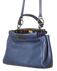 Fendi - Blue Peek A Boo Mini Top Handle - Lyst