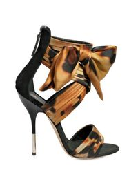 Giuseppe Zanotti | Multicolor 115mm Silk Satin Ankle Bow Sandals | Lyst