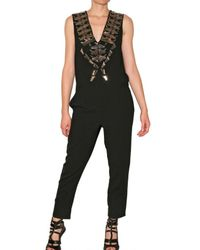 Givenchy | Black Mirror Embellished Jumpsuit | Lyst