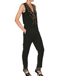 Givenchy | Black Mirror Embellished Jumpsuit | Lyst