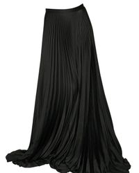 Haider Ackermann | Black Satin Pleated Skirt | Lyst