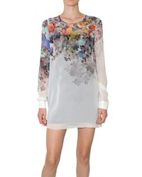 Jonathan Saunders | Multicolor Floral Chiffon Blouse | Lyst